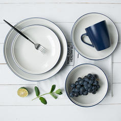 Contemporary Porcelain Dinnerware Sets (Set of 4)