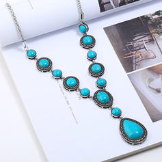 Unique Alloy With Resin Necklaces