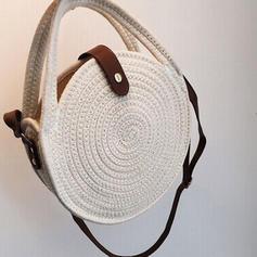 Jednobarevná Bavlna Crossbody tašky/Tašky přes rameno/Plážové tašky