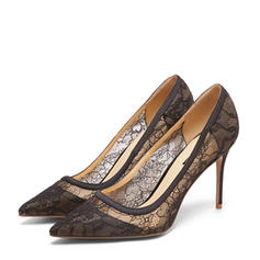 Women's Lace Stiletto Heel Closed Toe Pumps With Others