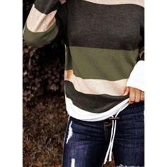 Blocchi di colore Spalle esposte Casual Top in maglia
