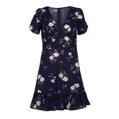Print/Floral Short Sleeves A-line Above Knee Casual/Party Dresses