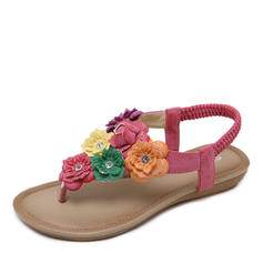 Women's Flat Heel Sandals With Flower shoes