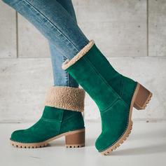 Kvinnor Konstläder Tjockt Häl Stövlar Boots Snökängor skor