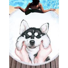 chien Énorme/attrayant serviette de plage
