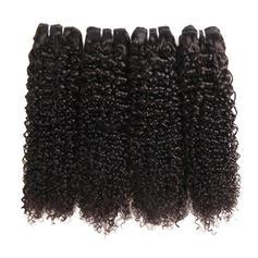 5A Rizado Cabello humano Postizo de cabello humano (Vendido en una sola pieza)