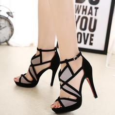 Dla kobiet Zamsz Obcas Stiletto Sandały Czólenka Z Łączona obuwie