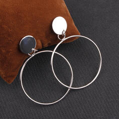 Pretty Round Alloy Earrings (Set of 2)