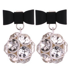 Fashionable Rhinestones Copper Ladies' Fashion Earrings