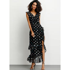 PolkaDot Sleeveless Sheath Maxi Party/Elegant Dresses