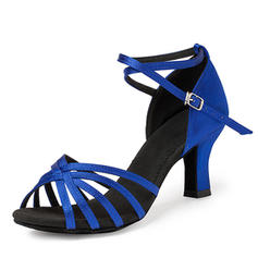 Women's Latin Heels Sandals Satin Latin