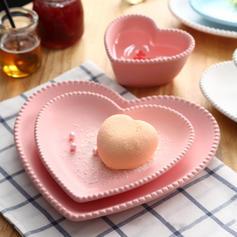 Forma de corazón Porcelana Juegos de vajilla (juego De 3)