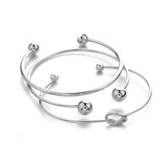 Layered Twist Alloy Bracelets (Set of 3)