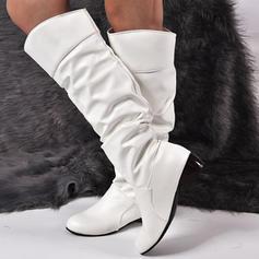 Femmes PU Talon bas Bottes hautes avec Autres chaussures