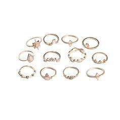 Exótico Liga Mulheres Anéis (Conjunto de 12 pares)