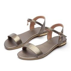 De mujer Piel Tacón plano Sandalias Planos Encaje con Hebilla zapatos