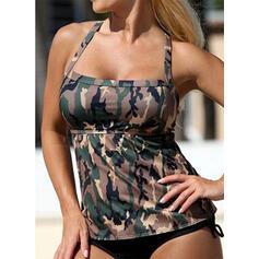 Print Halter Vintage Fresh Tankinis Swimsuits
