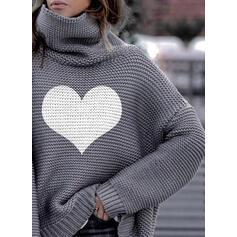 Nadruk Καρδιά Garbó Hétköznapokra πουλόβερ