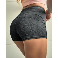 Solid Casual Sexy Sporty Shorts