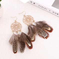 Stylish Alloy Feather With Feather Women's Fashion Earrings