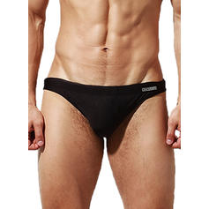 Men's Solid Color Padded Briefs