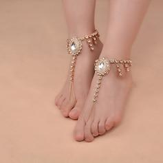 Сіяючі камені Сплав Ювелірні вироби для ніг (Продано в одній частині)