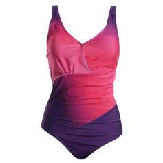 Wydrukować Kolor splotu Pasek Litera V Elegancki Jednoczęściowe Kostiumy Kąpielowe
