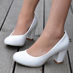 Naisten Keinonahasta Chunky heel Avokkaat Suljettu toe jossa Muut kengät