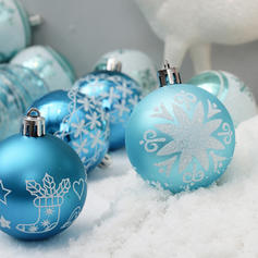 "Merry Christmas 24 PCS 2.36"" PVC Christmas Décor Ball (Set of 24)"