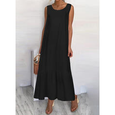Solide Mouwloos Shift Zwart jurkje/Casual/Vakantie Medium Jurken