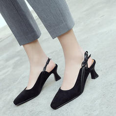 Women's Suede Stiletto Heel Pumps Closed Toe Slingbacks With Bowknot shoes