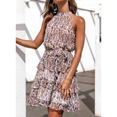 Print Sleeveless Sheath Above Knee Casual/Boho/Vacation Dresses