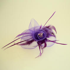 Ladies' Beautiful Feather/Net Yarn Fascinators