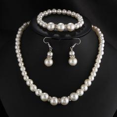 Estilo clásico La perla de faux con Perlas de imitación Señoras' Sistemas de la joyería