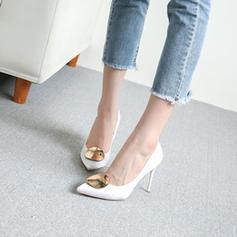 Dla kobiet Satyna Obcas Stiletto Czólenka Zakryte Palce Z Pozostałe obuwie