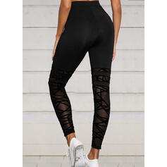 Solid Cropped Sexy Sporty Yoga Leggings
