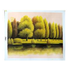 Moderno Retângulo Pinturas Florais / Botânicas