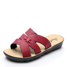 Bayanlar PU Düz topuk Sandalet Peep Toe Terlik ayakkabı