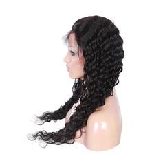 5A Bakire / remy Gevşek dalgalı İnsan saçı Dantel Ön Peruklar
