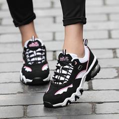 Mulheres Couro Casual Outdoor Caminhada com Aplicação de renda sapatos