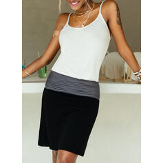 Color Block Sleeveless Sheath Above Knee Casual/Vacation Slip Dresses