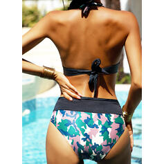 Vita Bassa Stampa A bikini Sexy Gli sport Taglia grossa Bikinis Costumi Da Bagno