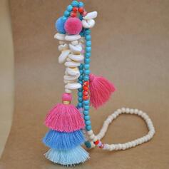 Caliente Fantasía Aleación Perlas con Borlas Collares Joyas de playa