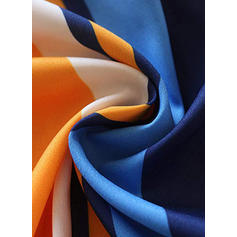 Colore-block/A strisce Maniche lunghe A trapezio Casuale/Vacanza Midi Abiti