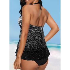 Dot Halter Beautiful Tankinis Swimsuits