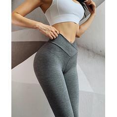 Solid Long Sporty Leggings ()