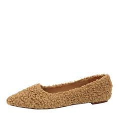 Frauen Veloursleder Flascher Absatz Flache Schuhe Geschlossene Zehe mit Andere Schuhe