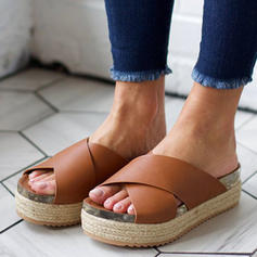 Frauen Veloursleder Keil Absatz Sandalen Keile mit Andere Schuhe