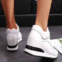 De mujer PU Tipo de tacón Botas con Cordones Velcro Color sólido zapatos