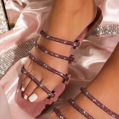 Mulheres PU Salto baixo Sandálias com Oca-out sapatos